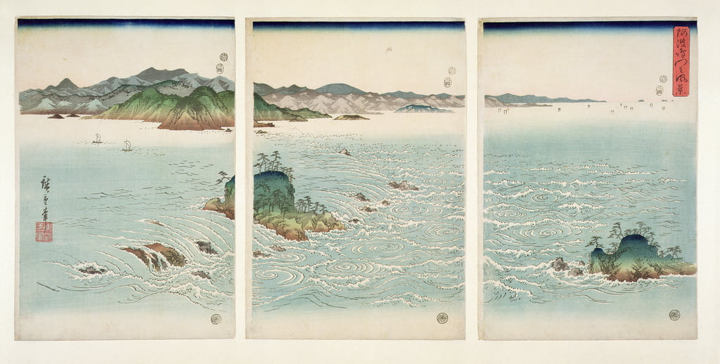 The Rapids of Naruto in Awa Province, from the series