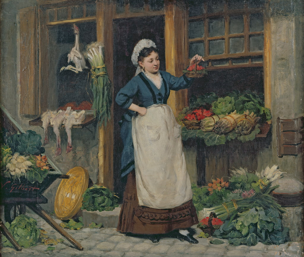 The Fruit Seller  by Victor Gabriel Gilbert