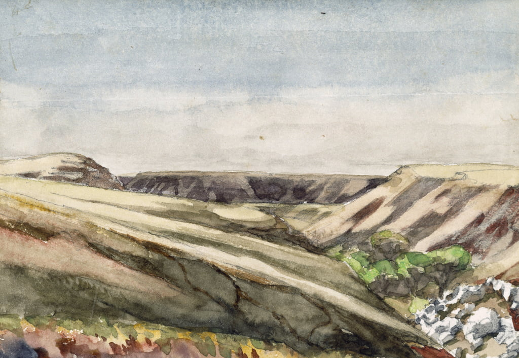Arizona Mesas, 1869-71 (wc on paper) by Vincent Colyer