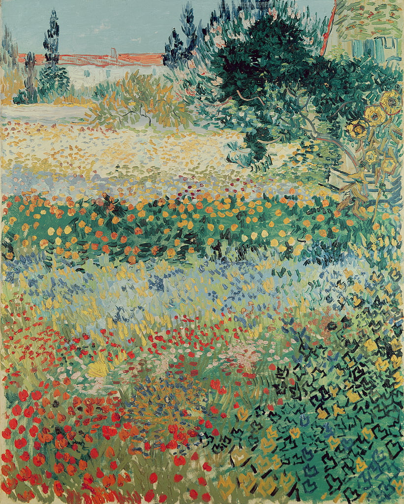 Garden in Bloom, Arles, July 1888  by Vincent van Gogh