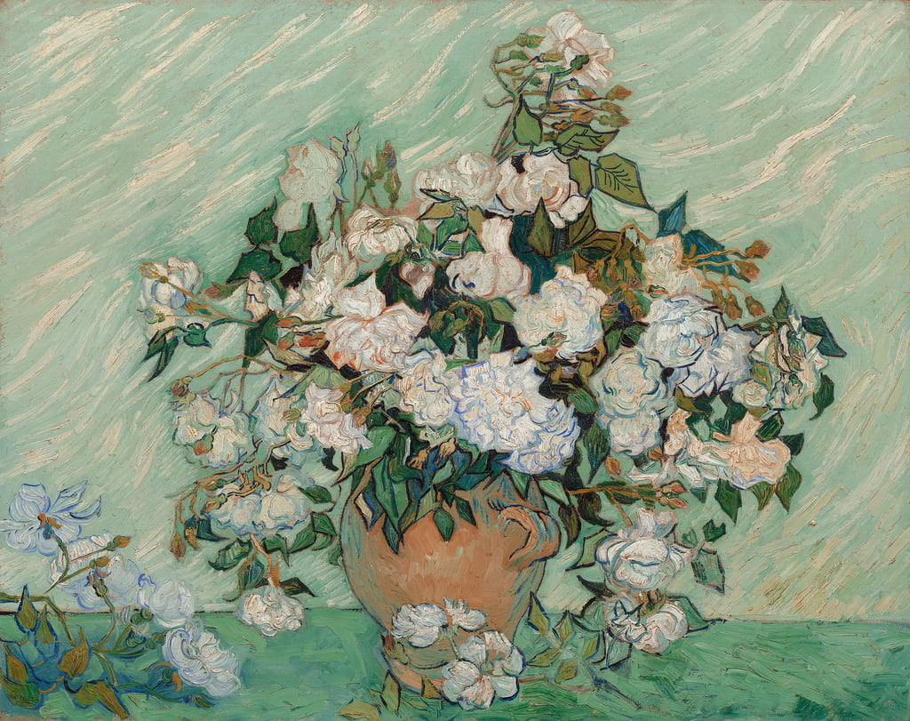 Roses, 1890  by Vincent van Gogh