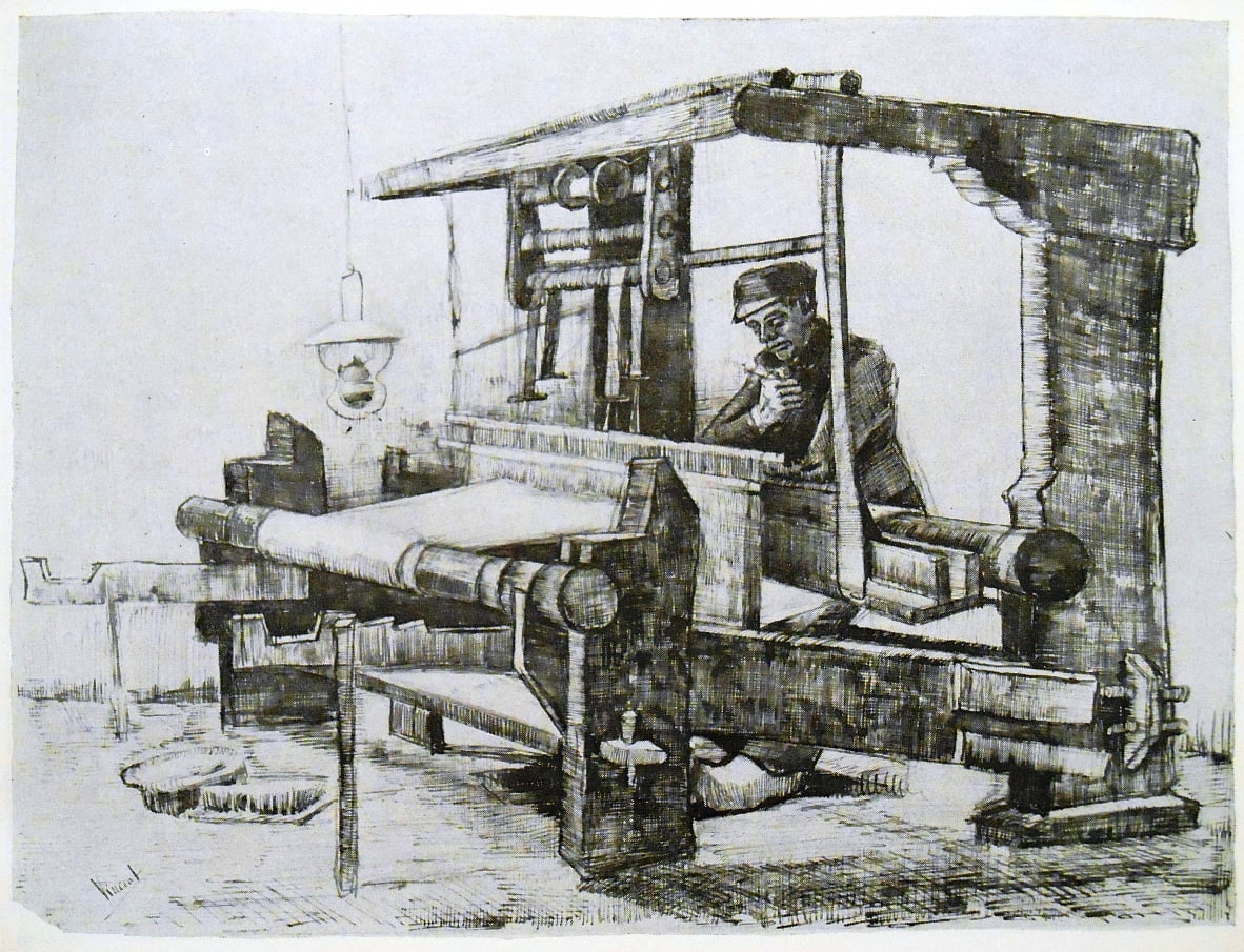 The Weaver At His Loom By Vincent Van Gogh 607283