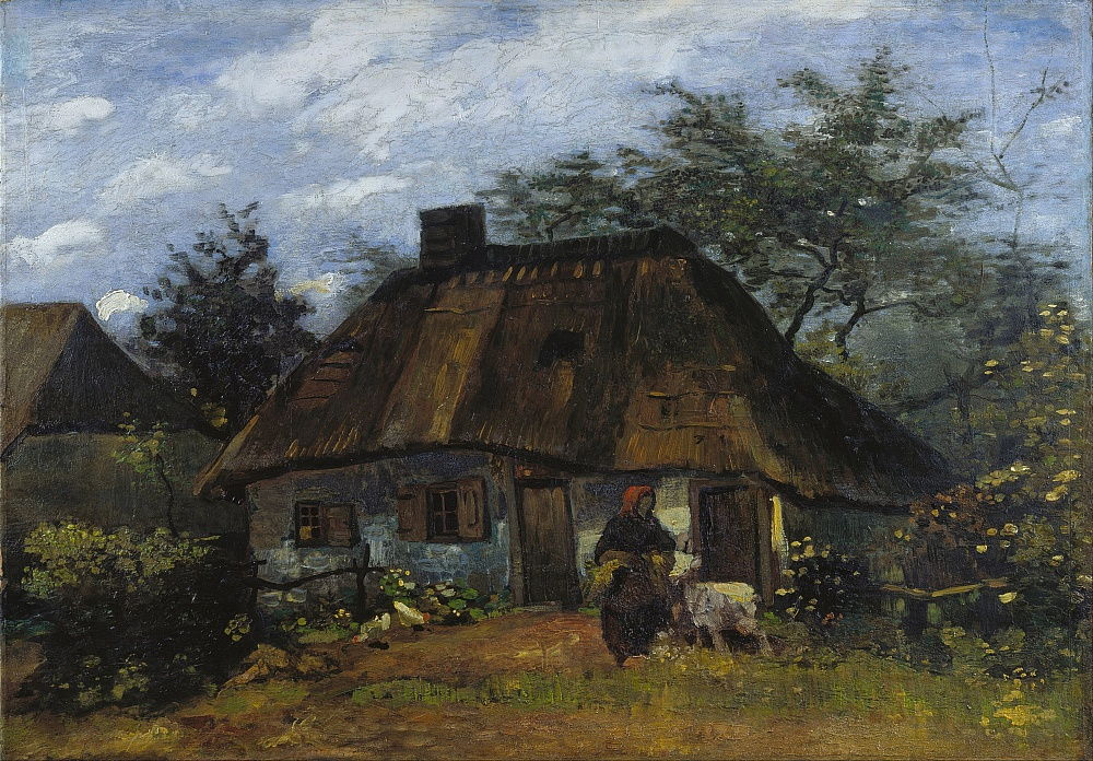 Farmhouse in Nuenen La Chaumière by Vincent van Gogh