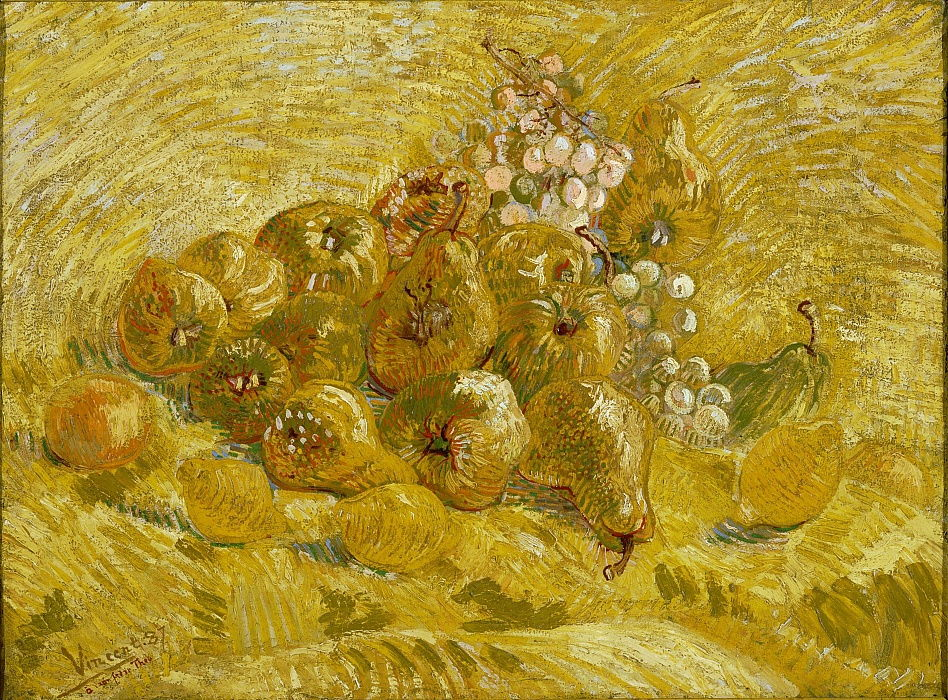 Quinces, lemons, pears and grapes, 1887-1888 by Vincent van Gogh