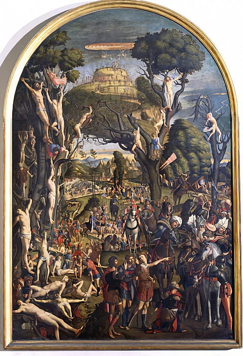The Crucifixion and the Glorification the Ten Thousand Martyrs on Mt. Ararat  by Vittore Carpaccio