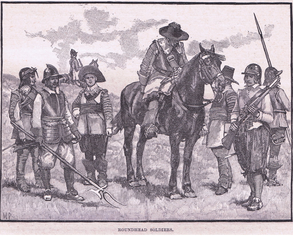 Roundhead soldiers AD 1645  by Walter Stanley Paget