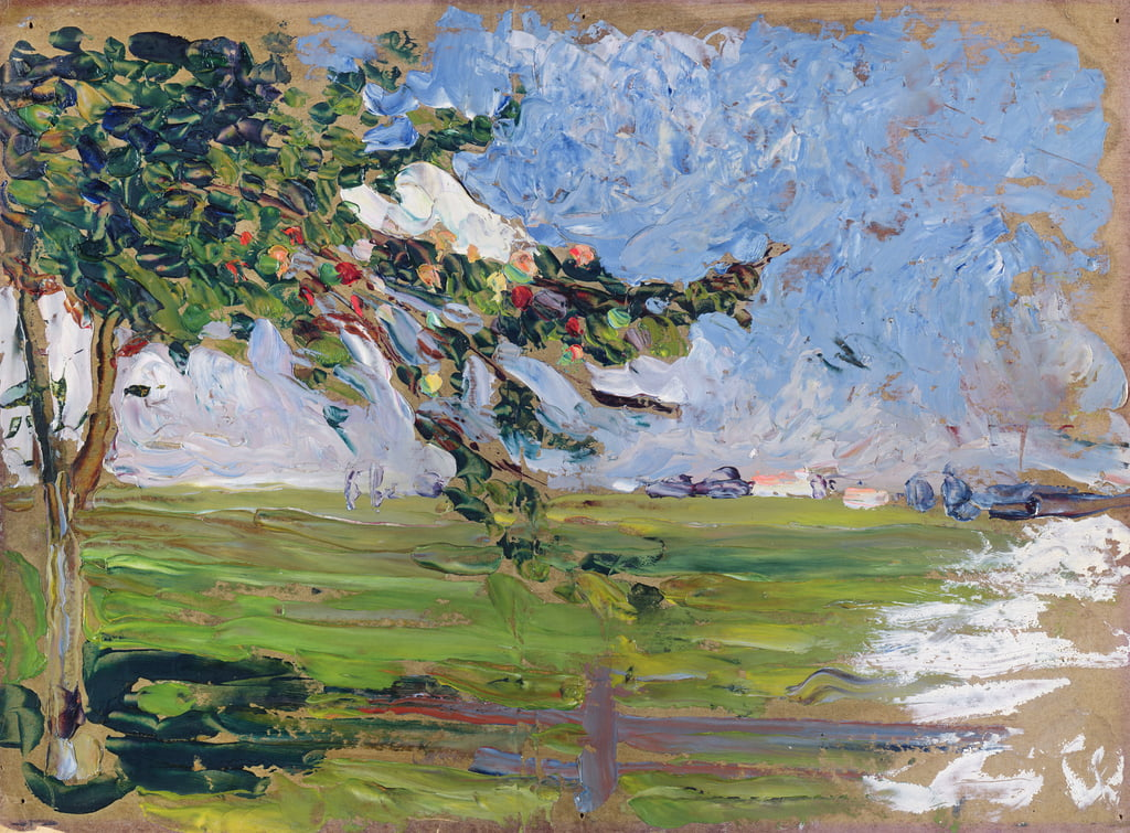Landscape with an Apple Tree, 1906  by Wassily Kandinsky