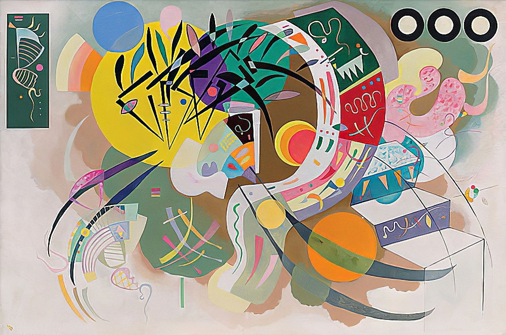 Dominante Kurve (Courbe dominante). 1936 by Wassily Kandinsky