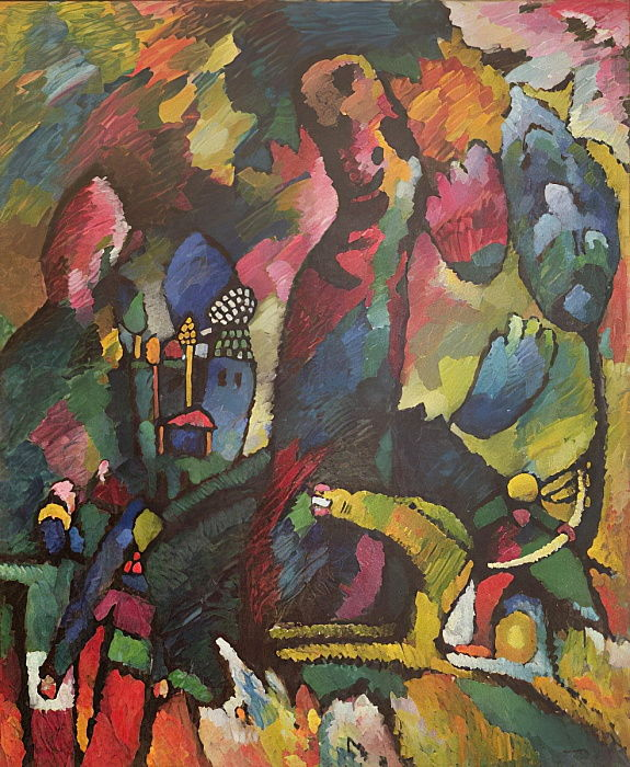 Picture with an Archer, 1909  by Wassily Kandinsky