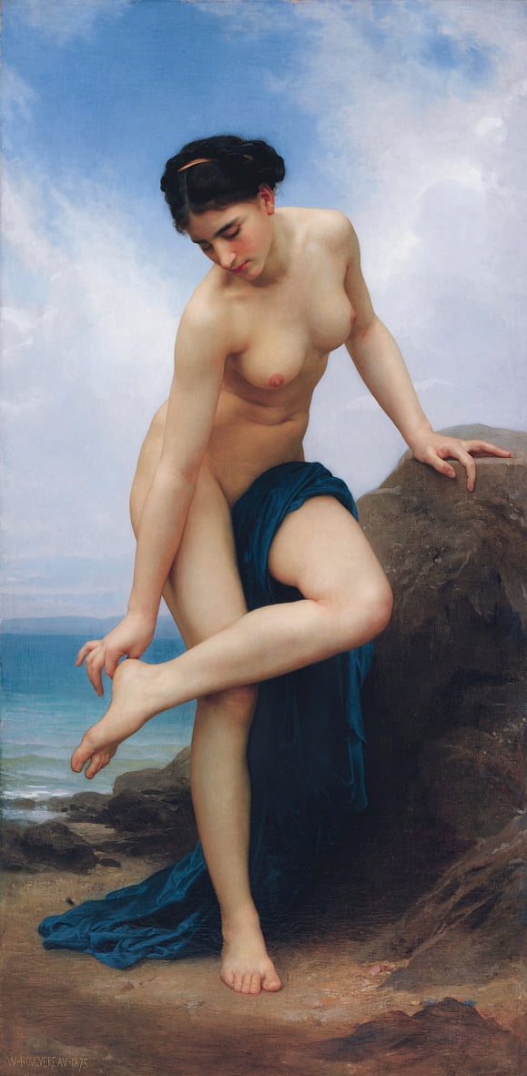 After the Bath  by William Adolphe Bouguereau