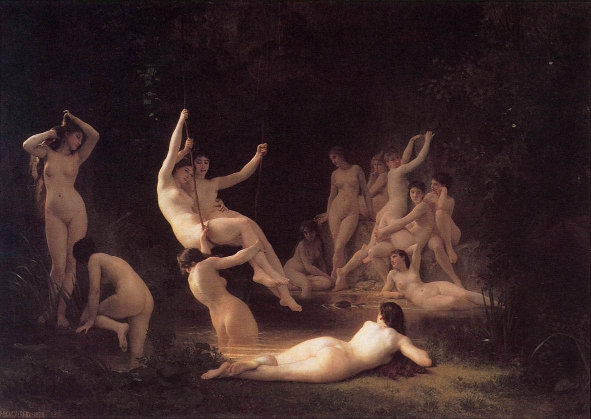 Les Nymphes by William Adolphe Bouguereau