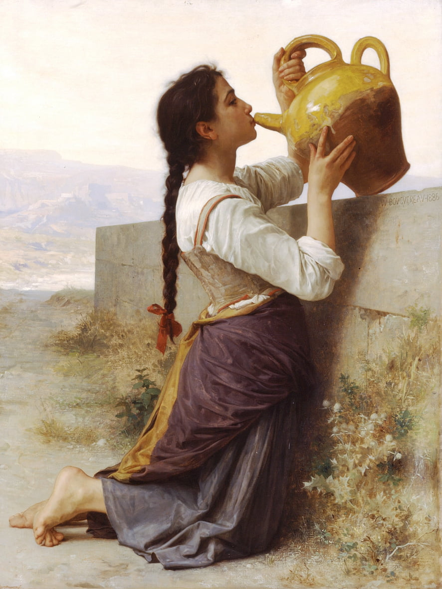 Thirst  by William Adolphe Bouguereau