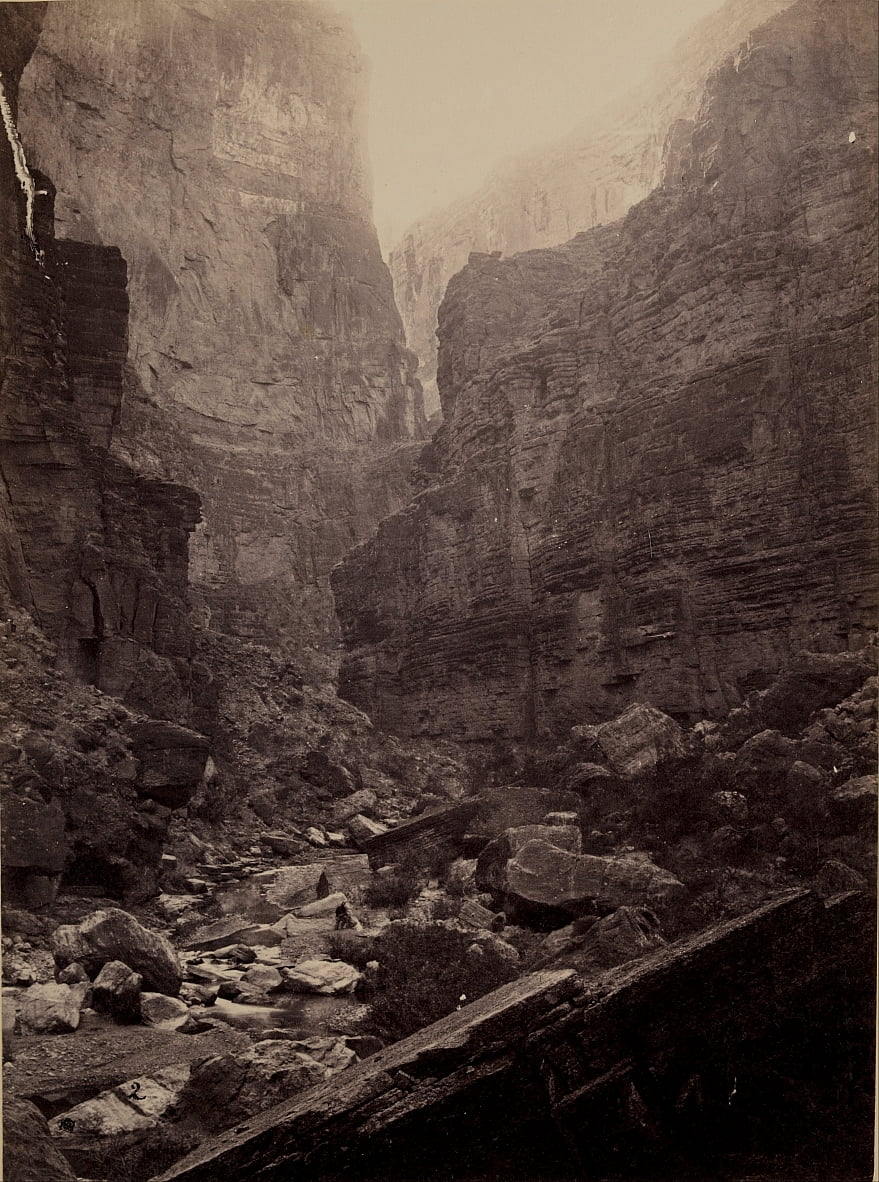 Cañon of Kanab Wash, Colorado River, Looking North by William H. Bell