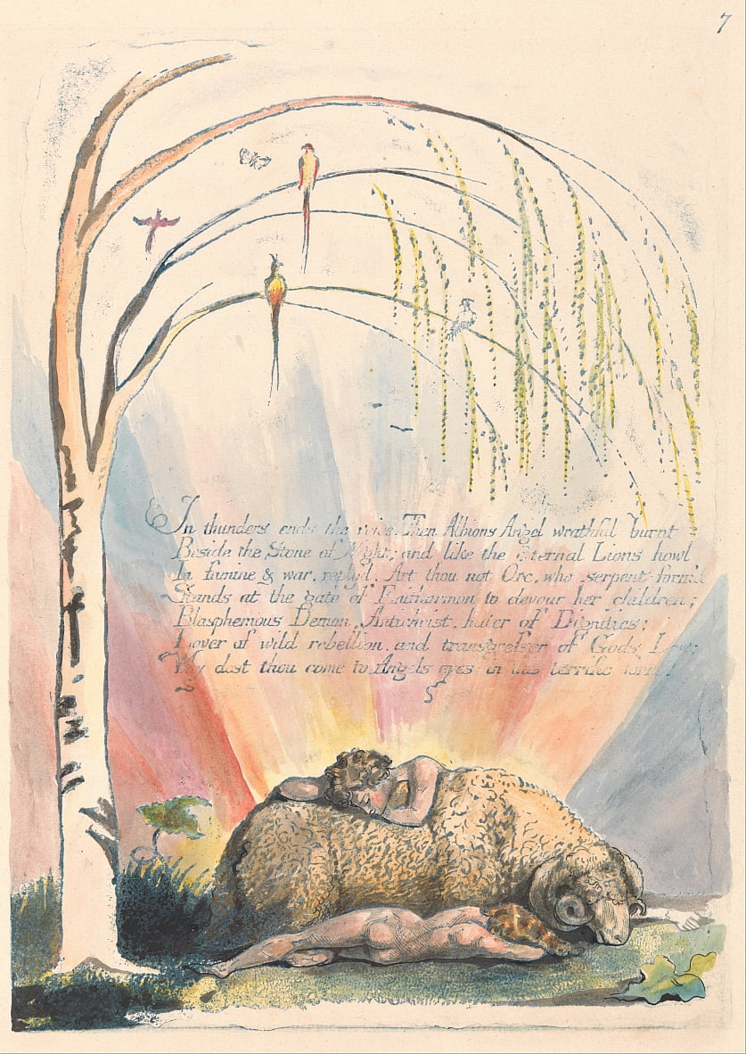 America. A Prophecy, Plate 9,  by William Blake