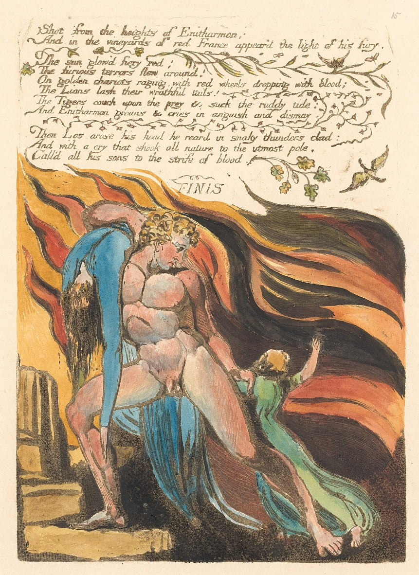 Europe. A Prophecy, Plate 17, Shot from the heights . . . .  (Bentley 18) by William Blake