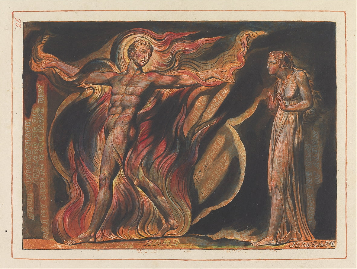 Jerusalem, Plate 26, Such Visions Have.... by William Blake