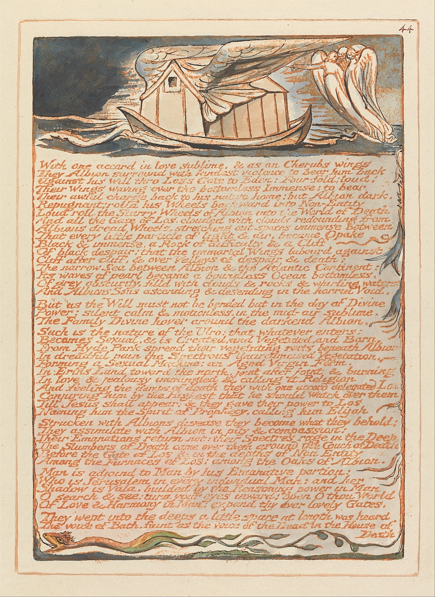 Jerusalem, Plate 44,  by William Blake