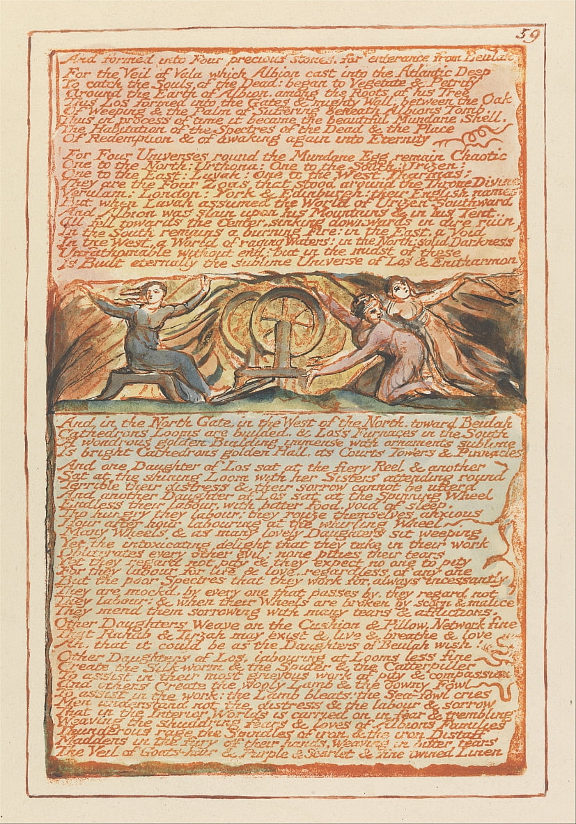 Jerusalem, Plate 59, And formed into Four precious stones.... by William Blake