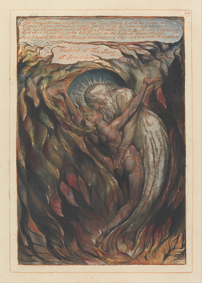 Jerusalem, Plate 99, All Human Forms identified.... by William Blake