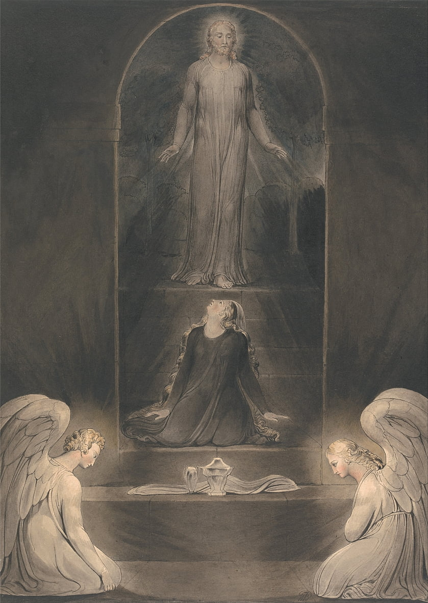 Mary Magdalen at the Sepulchre by William Blake