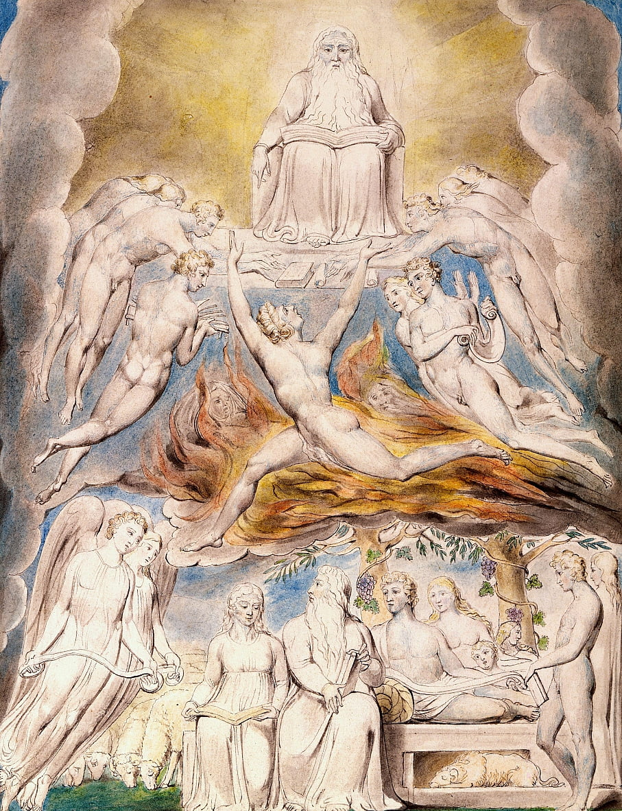 Satan Before the Throne of God by William Blake