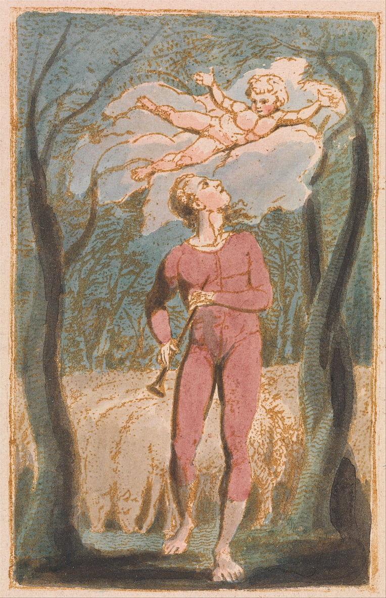 Songs of Innocence, Plate 1, Frontispiece (Bentley 2) by William Blake