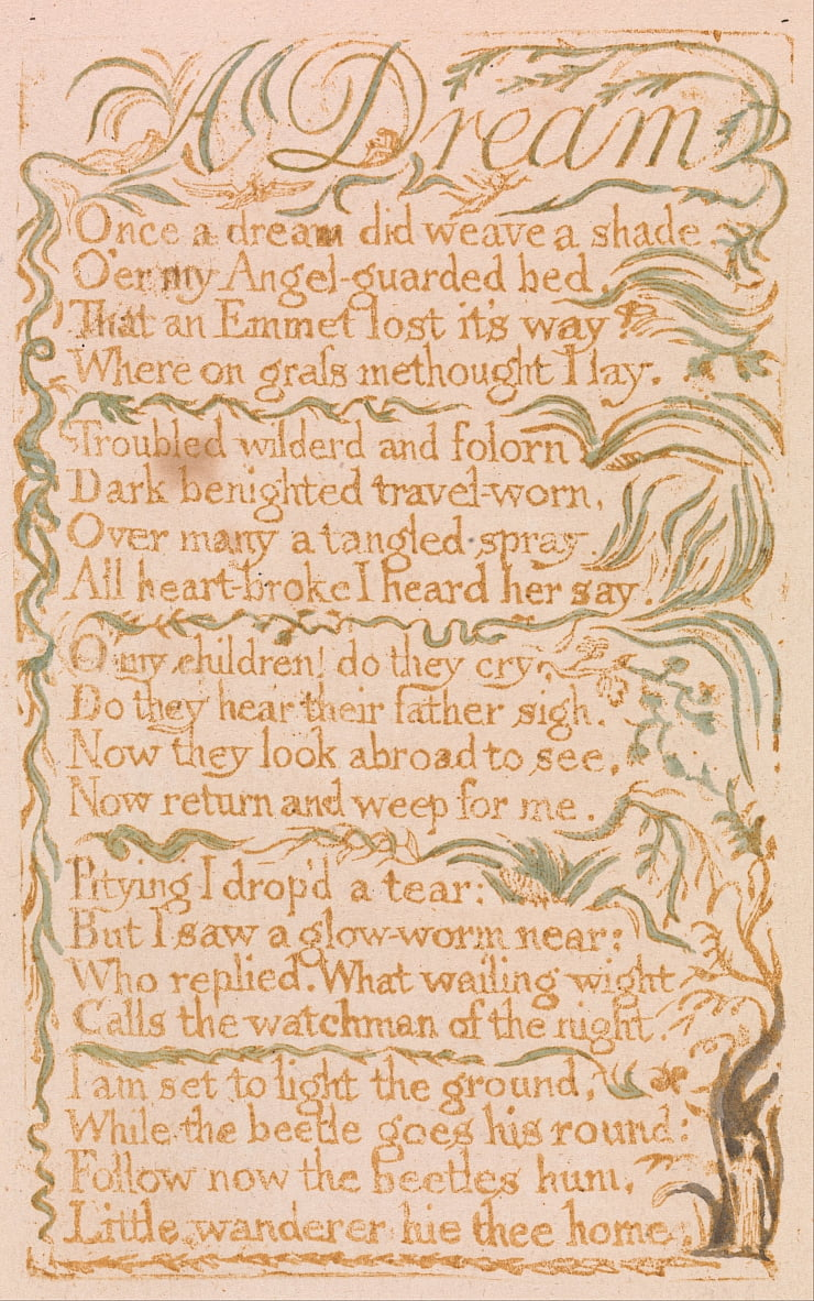 Songs of Innocence, Plate 4,  by William Blake