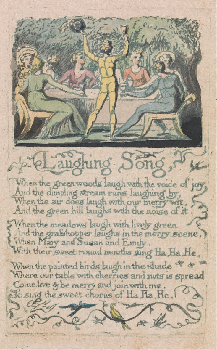 Songs of Innocence and of Experience, Plate 14,  by William Blake