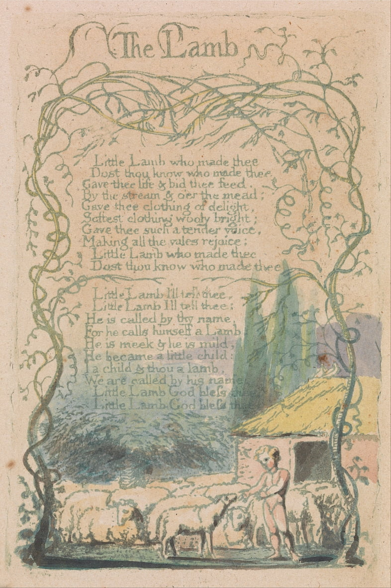 Songs of Innocence and of Experience, Plate 18,  by William Blake