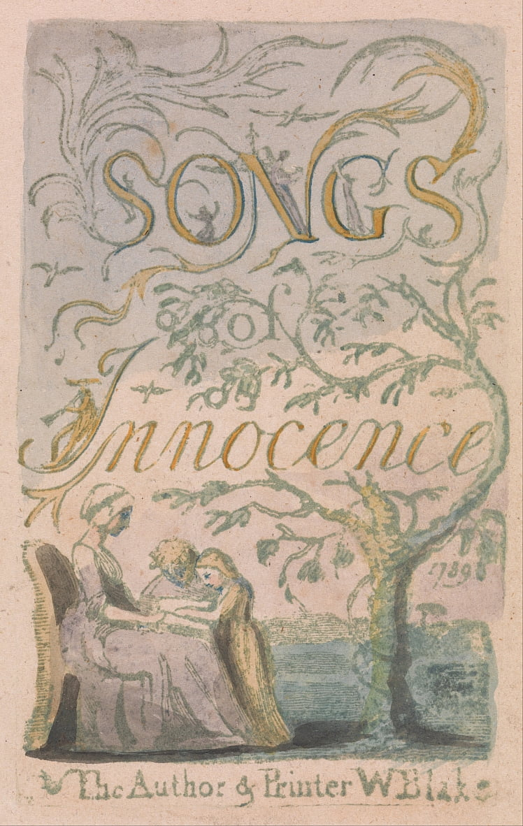 Songs of Innocence and of Experience, Plate 2, Innocence Title Page (Bentley 3) by William Blake