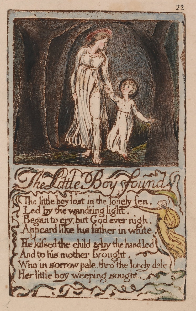 Songs of Innocence and of Experience, Plate 22,  by William Blake