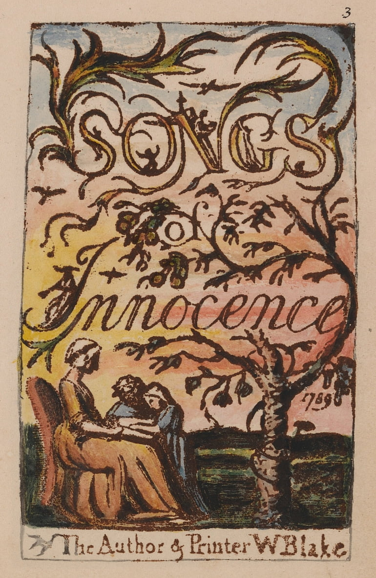 Songs of Innocence and of Experience, Plate 3, Innocence Title Page (Bentley 3) by William Blake