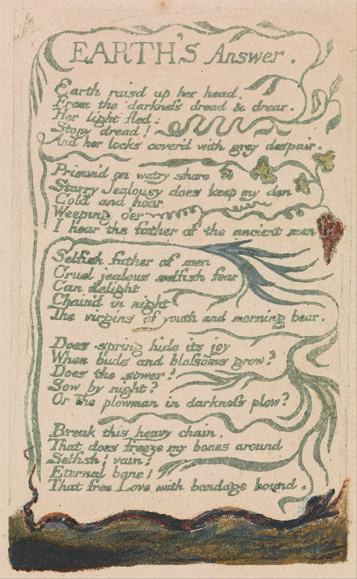 Songs of Innocence and of Experience, Plate 35,  by William Blake