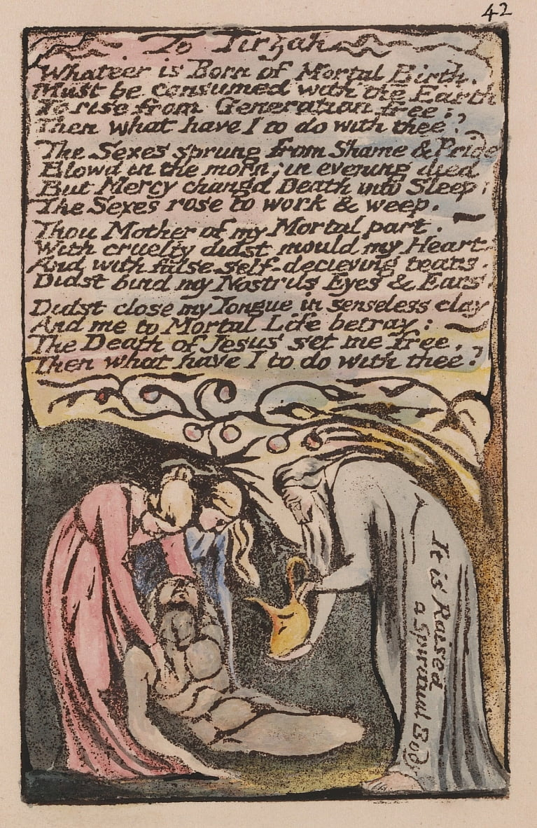 Songs of Innocence and of Experience, Plate 42,  by William Blake