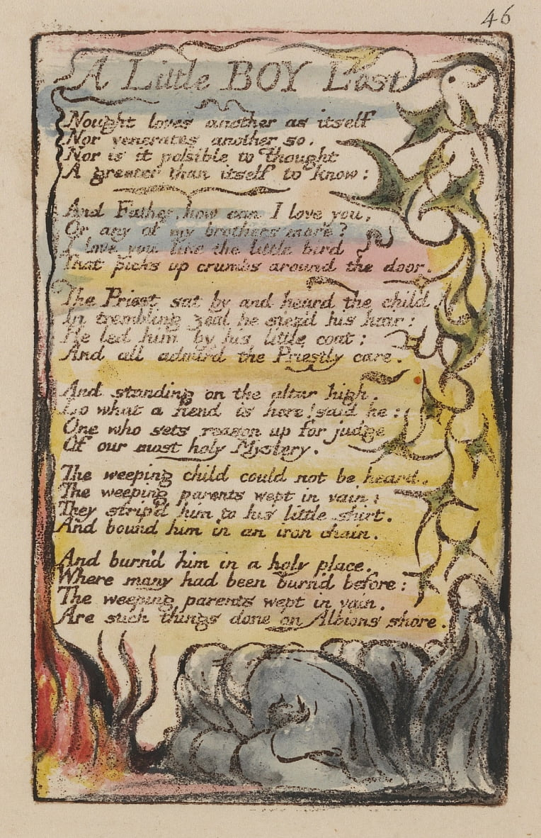 Songs of Innocence and of Experience, Plate 46,  by William Blake