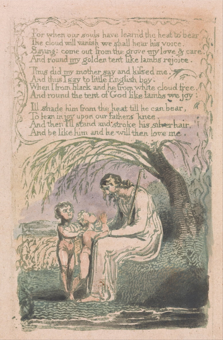Songs of Innocence and of Experience, Plate 6, The Little Black Boy (Bentley 10) by William Blake