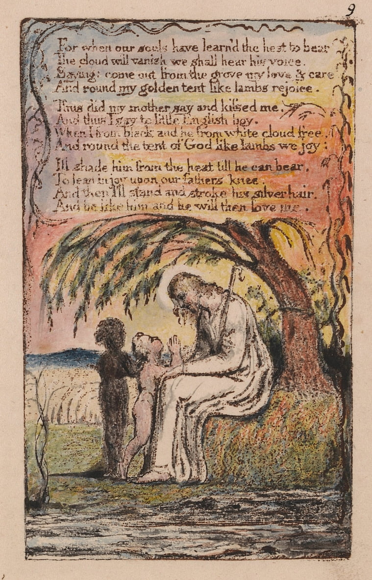 Songs of Innocence and of Experience, Plate 9,  by William Blake