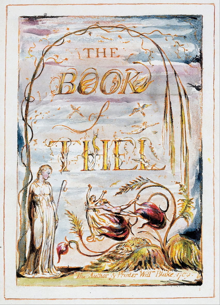 The Book of Thel (frontispiece) by William Blake