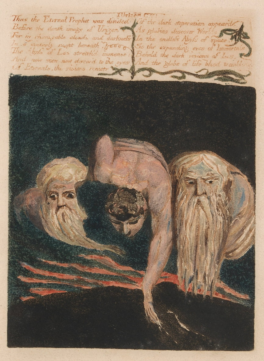 The First Book of Urizen, Plate 20,  by William Blake