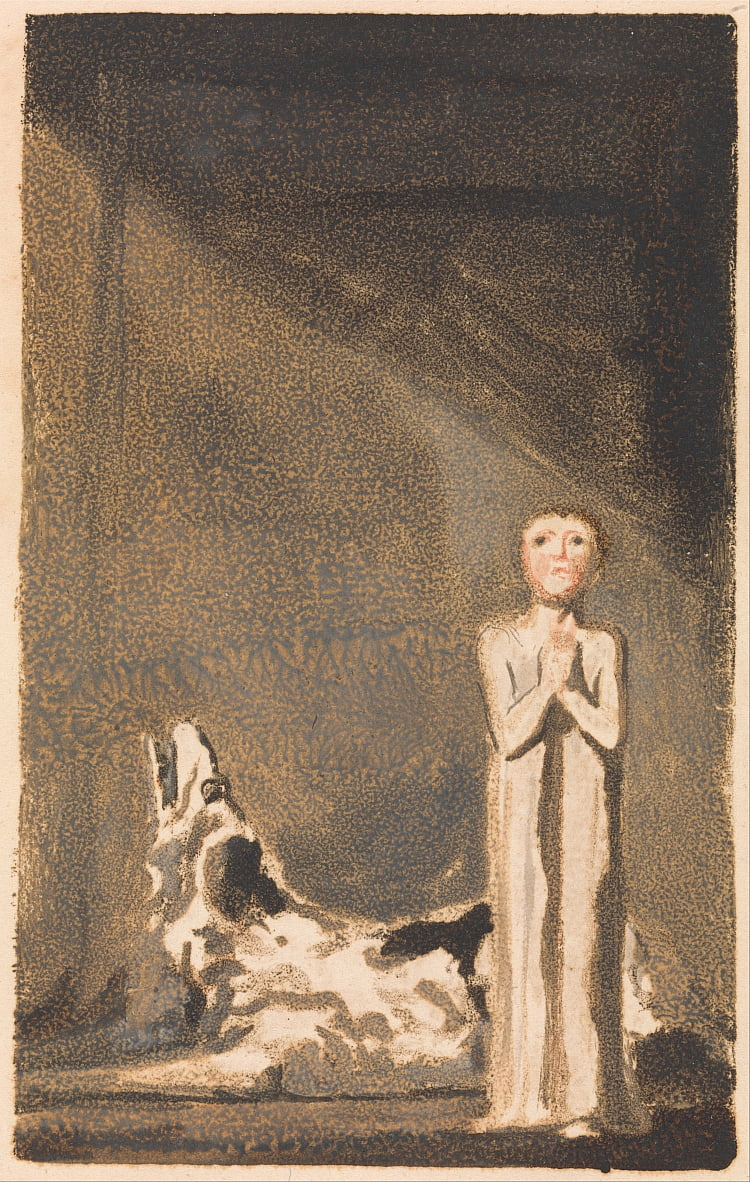 The First Book of Urizen, Plate 24 (Bentley 26) by William Blake