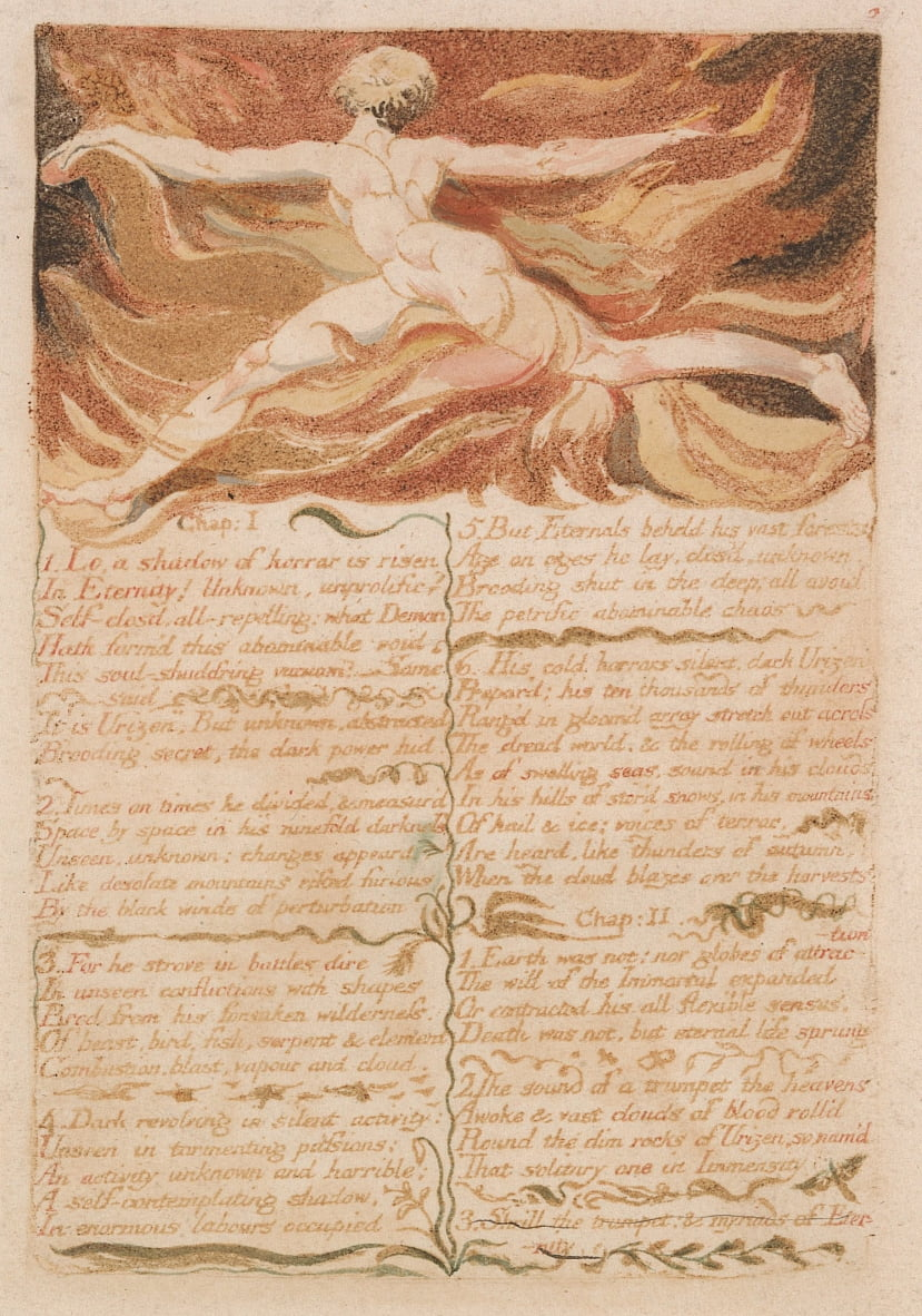 The First Book of Urizen, Plate 5,  by William Blake