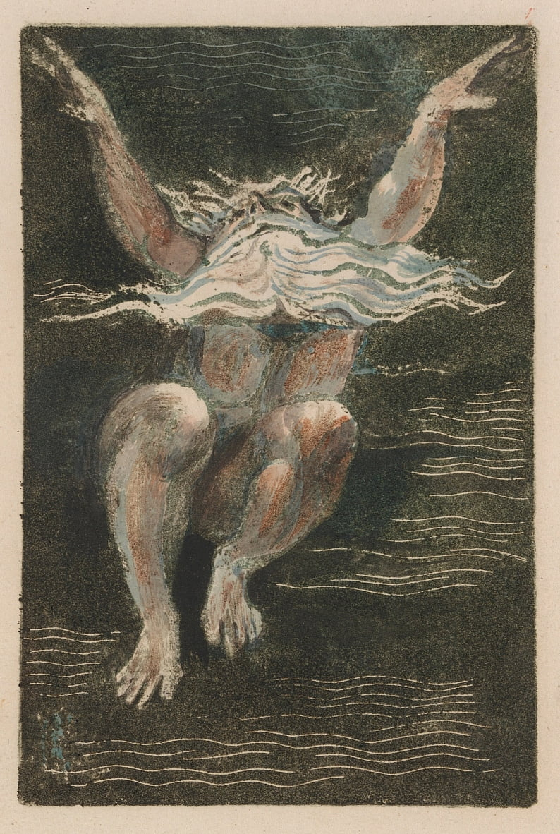 The First Book of Urizen, Plate 7 (Bentley 12) by William Blake