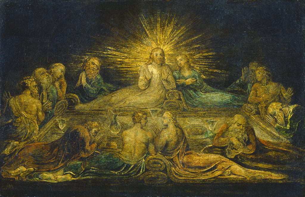 The Last Supper, 1799 (tempera on canvas) by William Blake
