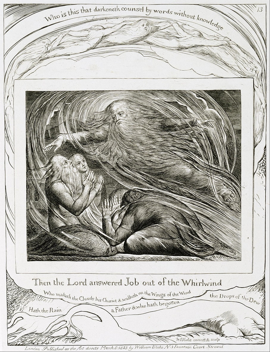 The Lord Answering Job out of the Whirlwind by William Blake