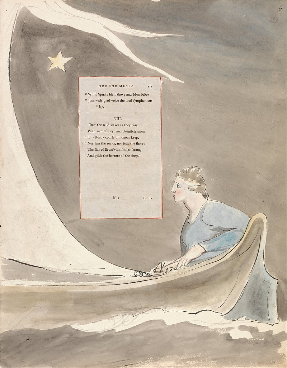 The Poems of Thomas Gray, Design 101, Ode for Music. by William Blake