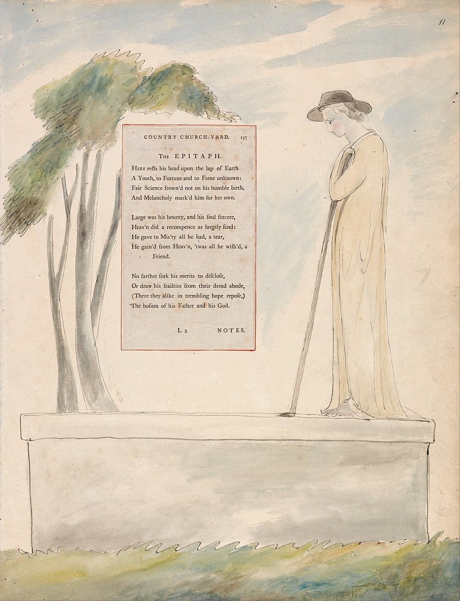 The Poems of Thomas Gray, Design 115 by William Blake