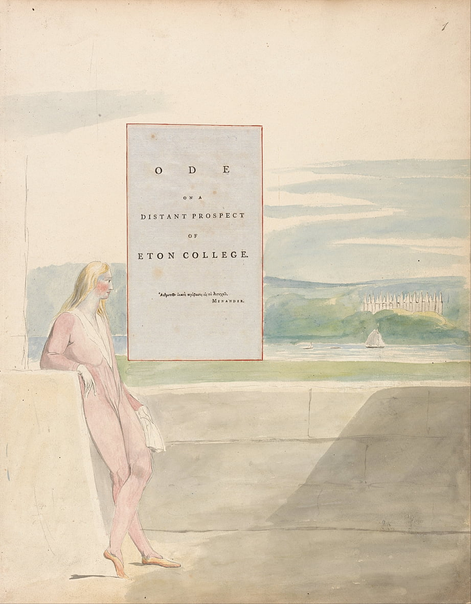The Poems of Thomas Gray, Design 13, Ode on a Distant Prospect of Eton College. by William Blake