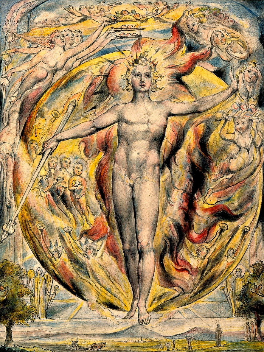 The Sun at His Eastern Gate by William Blake