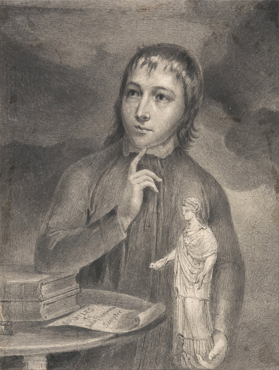 Thomas Alphonso Hayley, Half-Length Drawing by William Blake