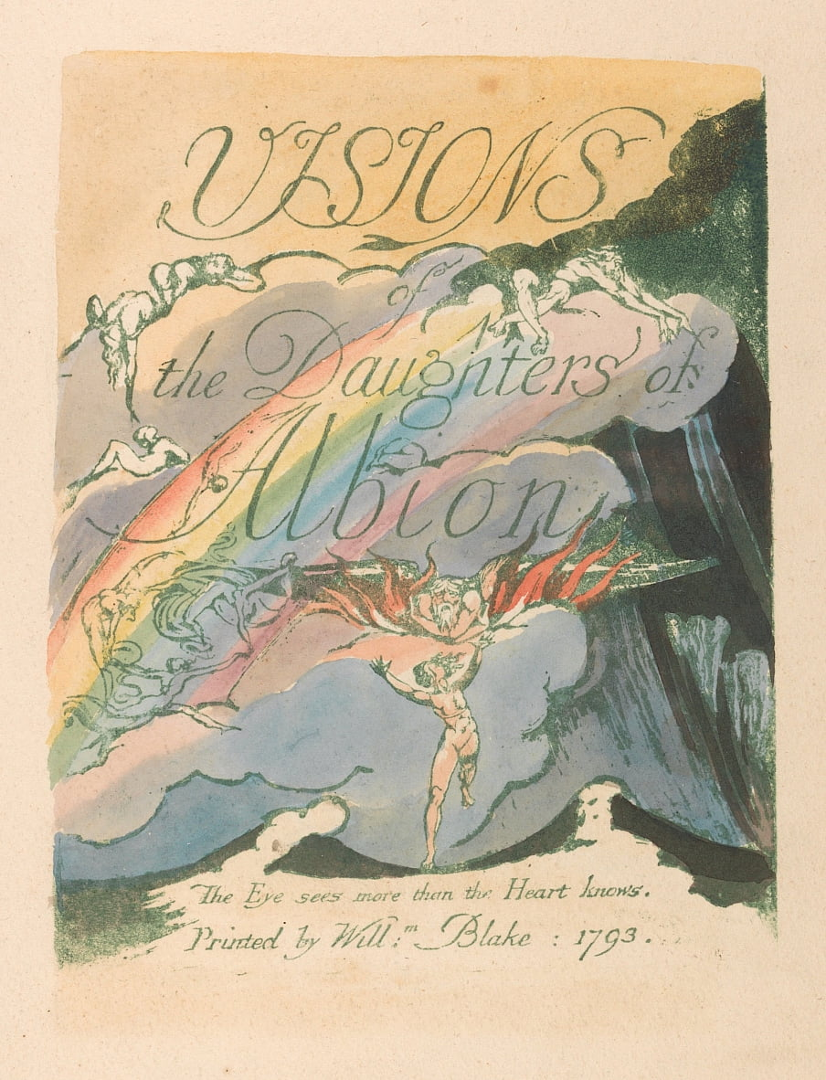 Visions of the Daughters of Albion, Plate 2, Title Page by William Blake